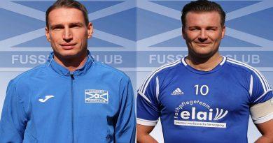 Marino Ballmer (li.) und Stephan Scharsig (re.) bleiben WFC-Trainer